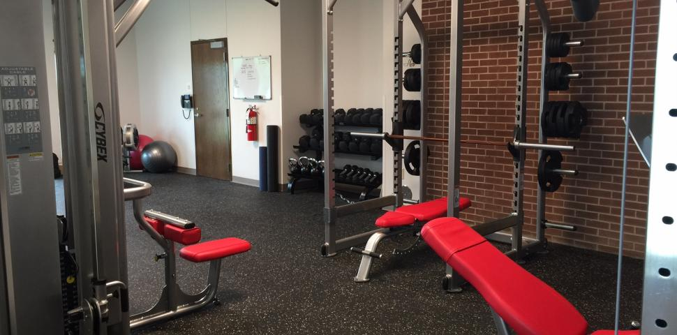 This image shows a fitness facility at a Fire Department