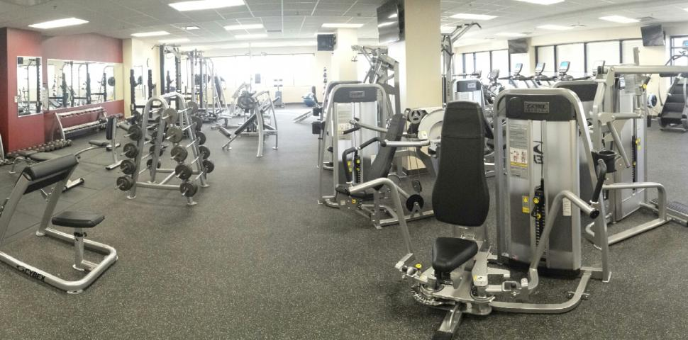 This image shows a fitness facility at a Police Station