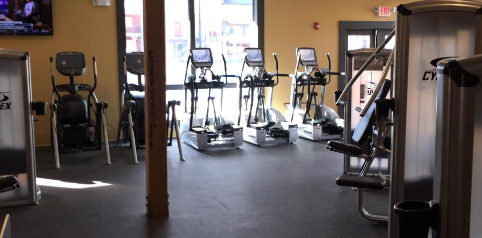 This image shows a fitness facility at a church.